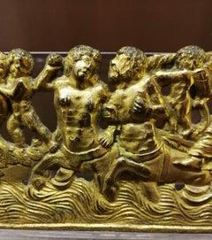 Severo da Ravenna Mannerist Mythological Gilded Bronze Frieze