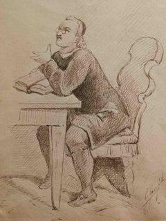 G. Garofalo, Don Abbondio, 1883, pen on paper, signed and dated