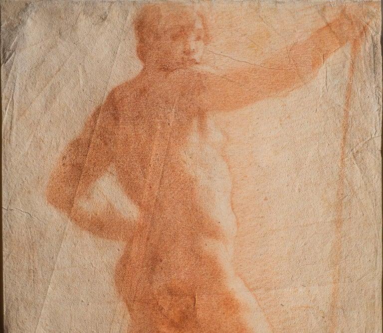 Il Volterrano Mannerist Sanguine Nude Drawing 1640s - Art by Baldassare Franceschini, called Il Volterrano