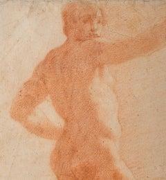 Il Volterrano Baroque Sanguine Nude Drawing 1640s