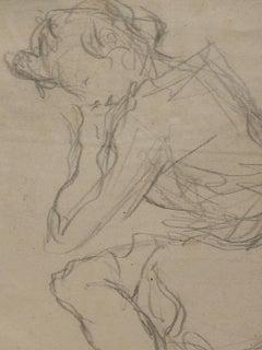 Salimbeni Female Portrait pencil on paper 20th century