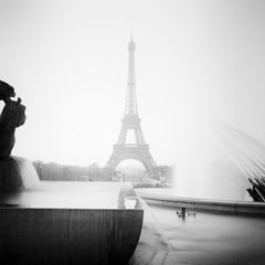 Eifel Tower Study 3, Paris, France - Black and White Fine Art Photography