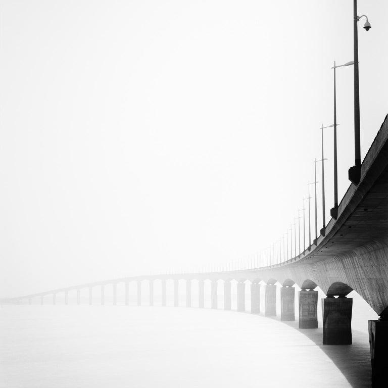 SILVERFINEART  Landscape Photograph - Bridge Study 1, France - Black and White Fine Art Photography