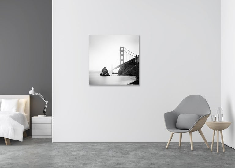 Limited edition of 7 Image size: 80 x 80 cm / 31.5 x 31.5 inches (White border around the image for framing)   Photo is taken on 6 x 6 cm medium format black and white negative film and printed as museum archival pigment print. Hand signed, dated