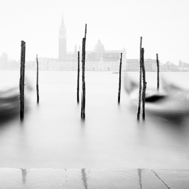 Free Space, Venice, Italy - Black and White Fine Art Photography - Gray Black and White Photograph by SILVERFINEART - Gerald Berghammer, Ina Forstinger
