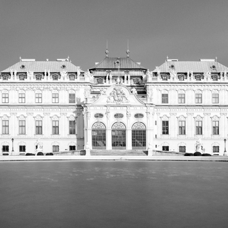 Upper Belvedere #2, Vienna, Austria - Black & White Fine Art Photography - Gray Black and White Photograph by SILVERFINEART - Gerald Berghammer, Ina Forstinger