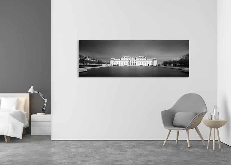 Limited edition of 10 Image size: 60 x 180 cm / 23.6 x 70.9 inches (White border around the image for framing)  Photo is taken on 6 x 6 cm panorama format black and white negative film and printed as museum archival pigment print. Hand signed, dated