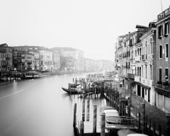 Canale Grande 1, Italy,  Venice - Black and White Fine Art Photography