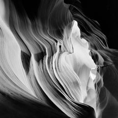 Antelope Canyon Study 3, Arizona, USA - Black and White Fine Art Photography
