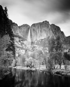 Upper Yosemite Falls 1, California, USA - Black and White Fine Art Photography
