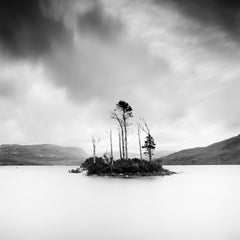 Drowned Island 1, Scotland - Black and White Long Exposure Fine Art Photography