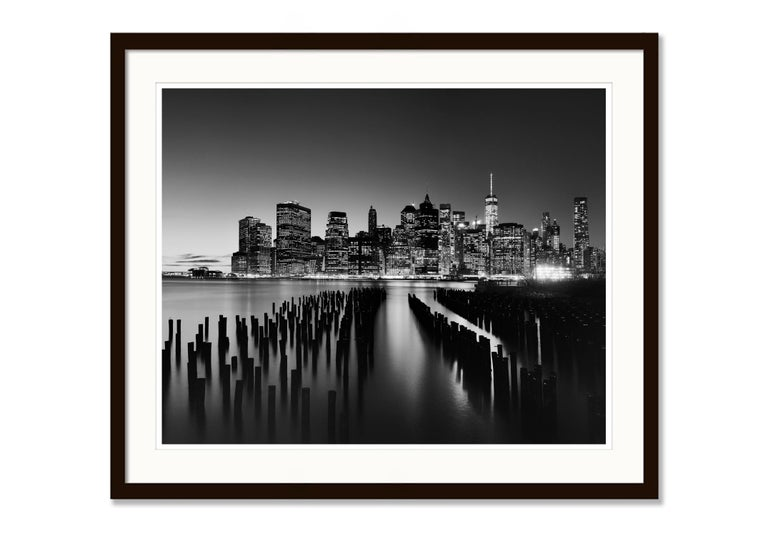 Manhattan Skyline 1, New York City, USA - Black and White Fine Art Photography For Sale 3