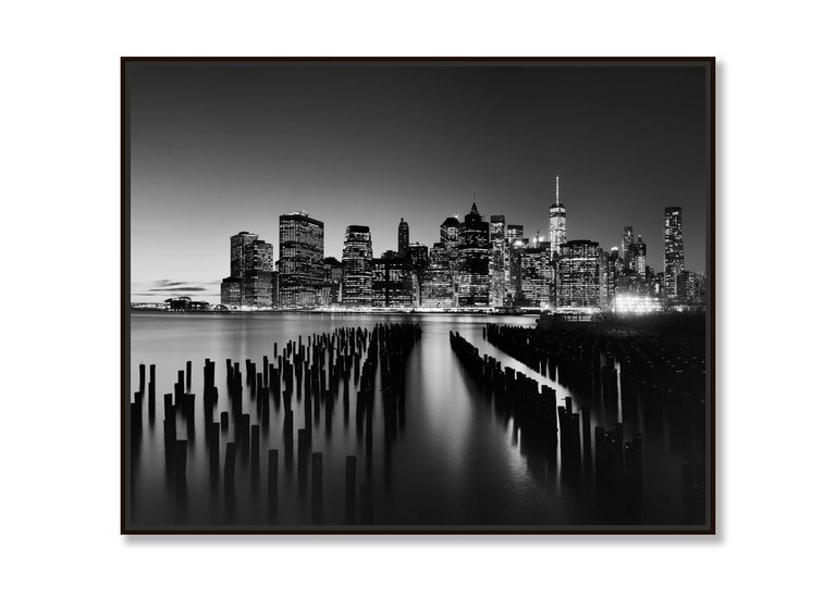 Manhattan Skyline 1, New York City, USA - Black and White Fine Art Photography For Sale 1