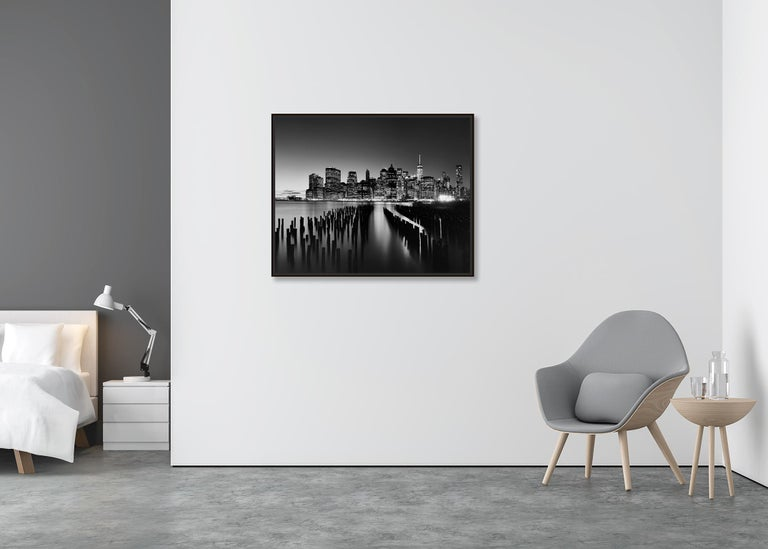 Manhattan Skyline 1, New York City, USA - Black and White Fine Art Photography For Sale 2