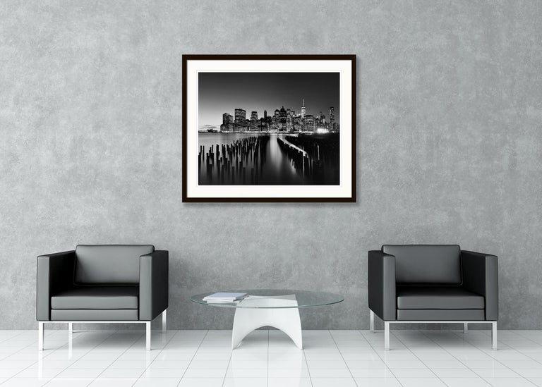 Manhattan Skyline 1, New York City, USA - Black and White Fine Art Photography For Sale 4