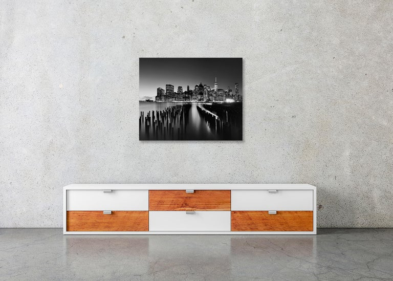 Manhattan Skyline 1, New York City, USA - Black and White Fine Art Photography For Sale 5