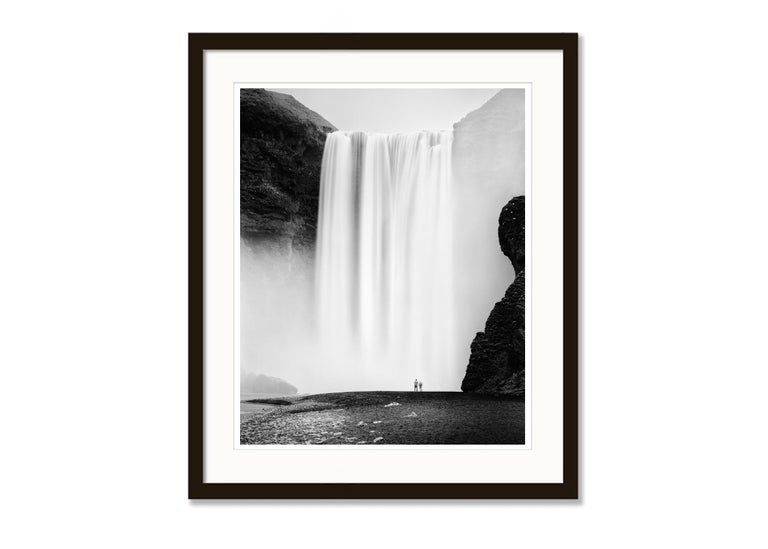Skogafoss 2, Waterfall, Iceland - Black and White Fine Art Photography For Sale 2