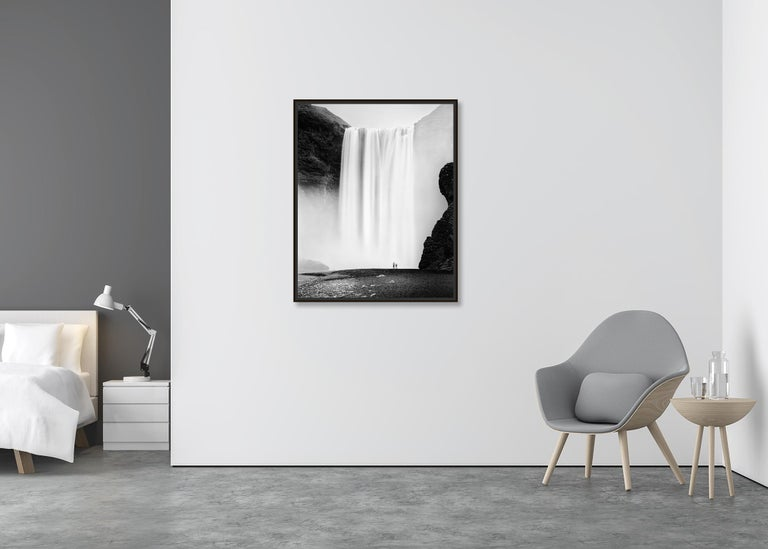Skogafoss 2, Waterfall, Iceland - Black and White Fine Art Photography For Sale 1