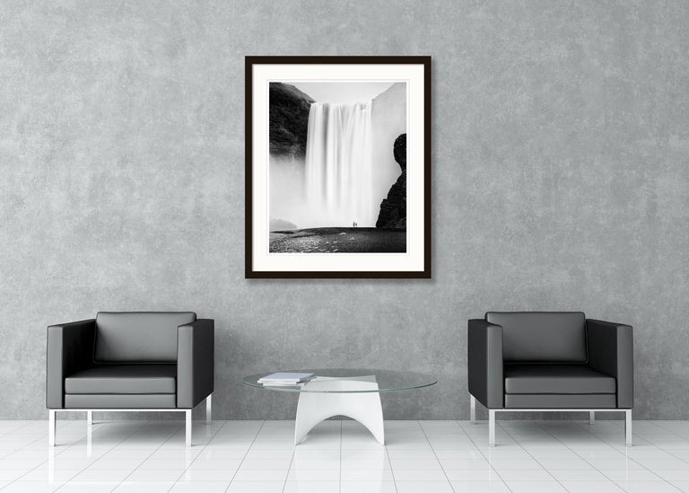 Skogafoss 2, Waterfall, Iceland - Black and White Fine Art Photography For Sale 3