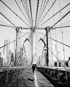 Brooklyn Bridge #1, New York City, USA - Black and White Fine Art Photography