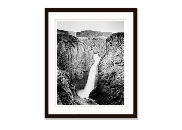Hengifoss Study 2, Iceland - Black and White Fine Art Photography For Sale 2