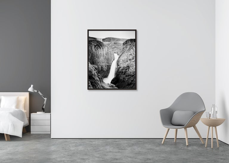 Hengifoss Study 2, Iceland - Black and White Fine Art Photography For Sale 1
