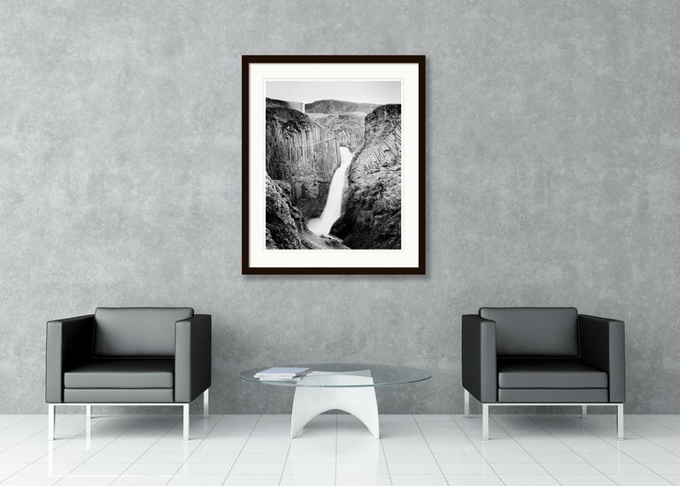 Hengifoss Study 2, Iceland - Black and White Fine Art Photography For Sale 3