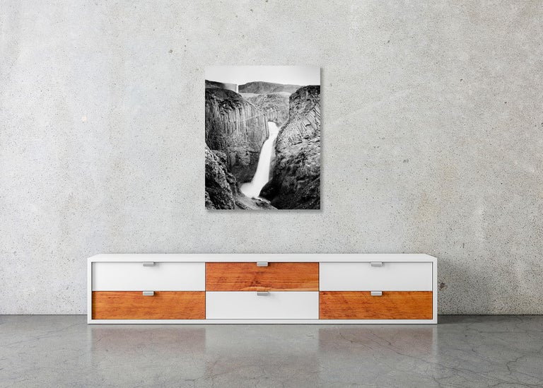 Hengifoss Study 2, Iceland - Black and White Fine Art Photography For Sale 4