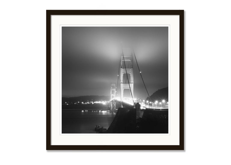Golden Gate Night Study 4, California, USA - Black and White Art Photography For Sale 2