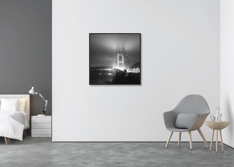 Golden Gate Night Study 4, California, USA - Black and White Art Photography For Sale 1