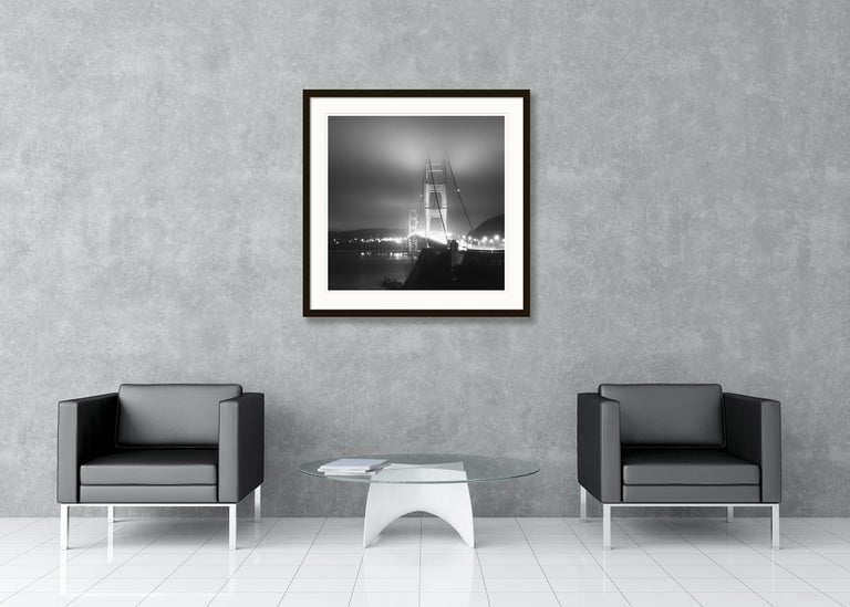 Golden Gate Night Study 4, California, USA - Black and White Art Photography For Sale 3