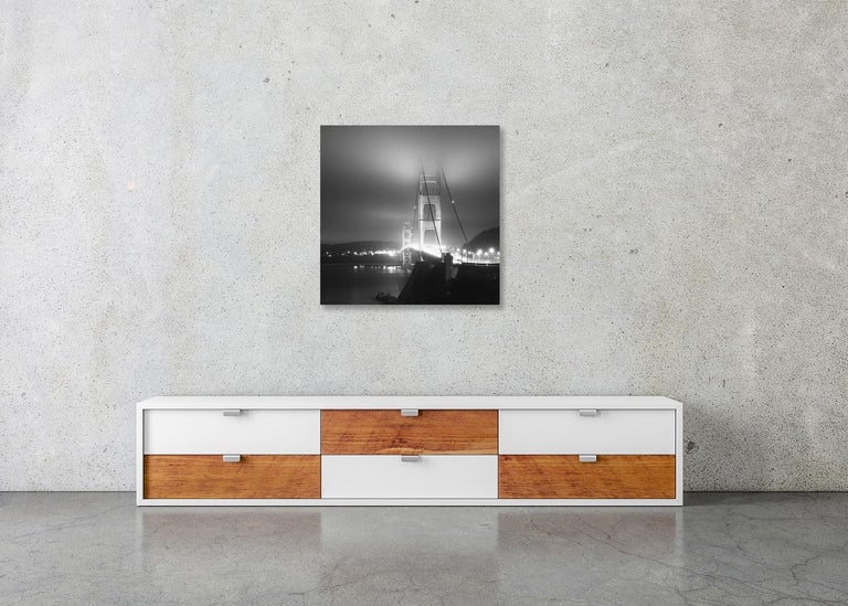 Golden Gate Night Study 4, California, USA - Black and White Art Photography For Sale 4