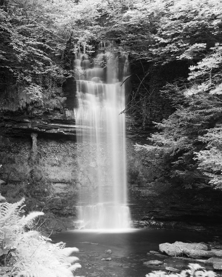 Gerald Berghammer, Ina Forstinger Black and White Photograph - Waterfall Study 4, Ireland - Black and White Fine Art Photography