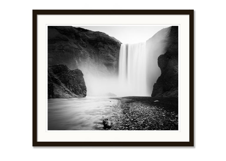 Skogafoss #1, Waterfall, Iceland 2011  - Black and White Fine Art Photography For Sale 3