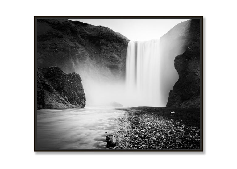 Skogafoss #1, Waterfall, Iceland 2011  - Black and White Fine Art Photography For Sale 1
