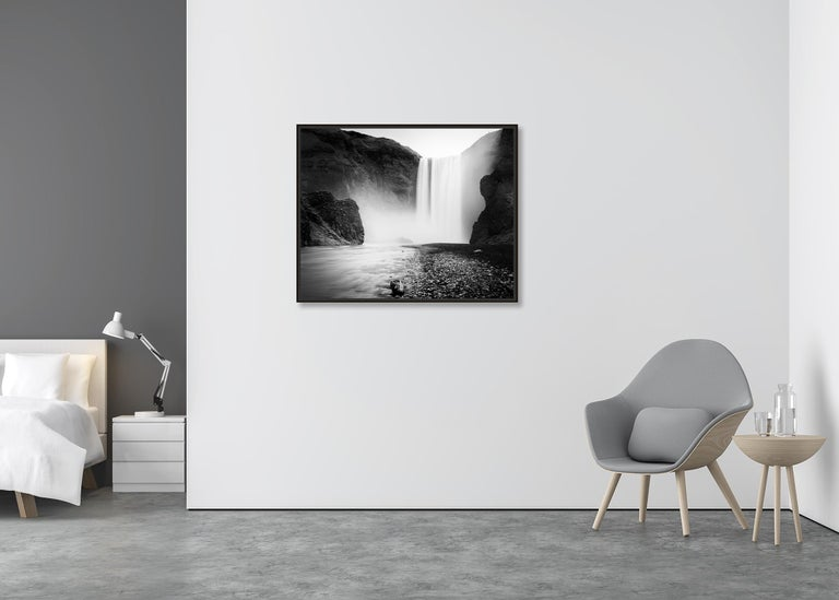 Skogafoss #1, Waterfall, Iceland 2011  - Black and White Fine Art Photography For Sale 2