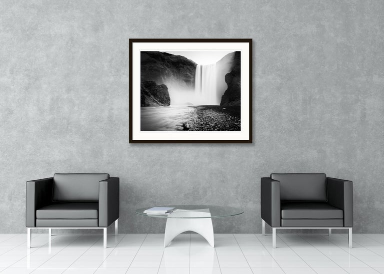 Skogafoss #1, Waterfall, Iceland 2011  - Black and White Fine Art Photography For Sale 4