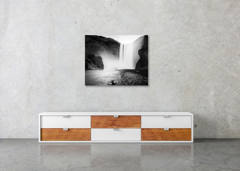 Skogafoss #1, Waterfall, Iceland 2011  - Black and White Fine Art Photography For Sale 5