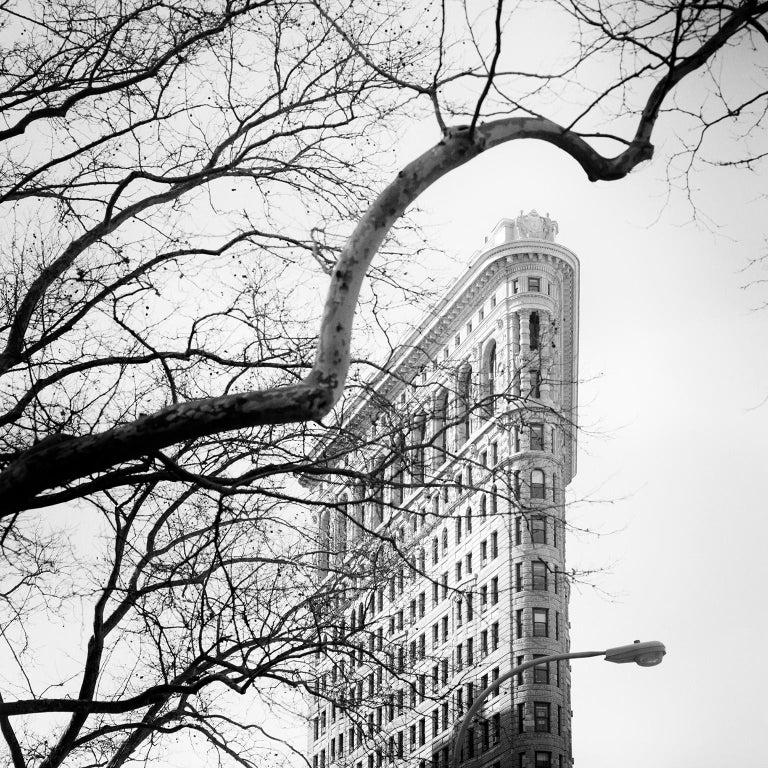 Gerald Berghammer, Ina Forstinger Black and White Photograph - Flatiron Building 1, New York City, USA - Black and White Fine Art Photography