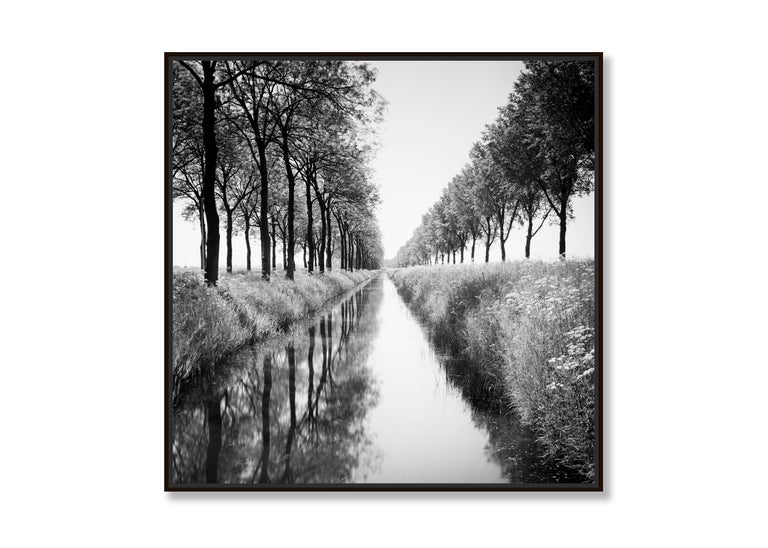 Gracht Study 1, Nehterlands - Black and White Long Exposure Fine Art Photography For Sale 1