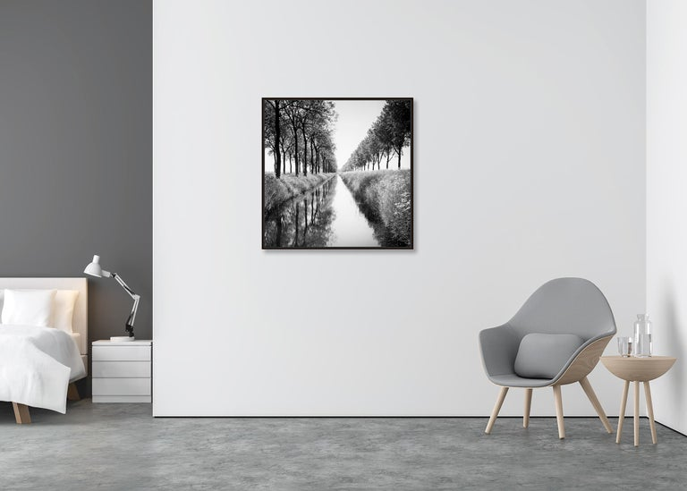 Gracht Study 1, Nehterlands - Black and White Long Exposure Fine Art Photography For Sale 2