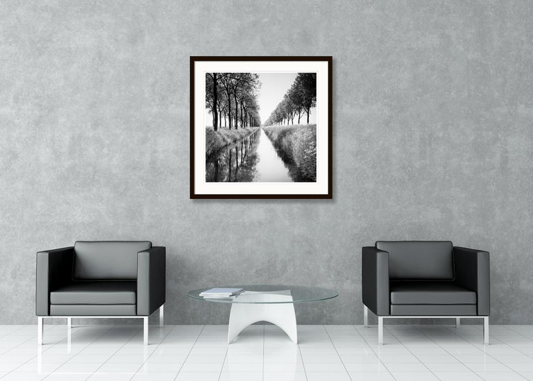 Gracht Study 1, Nehterlands - Black and White Long Exposure Fine Art Photography For Sale 4