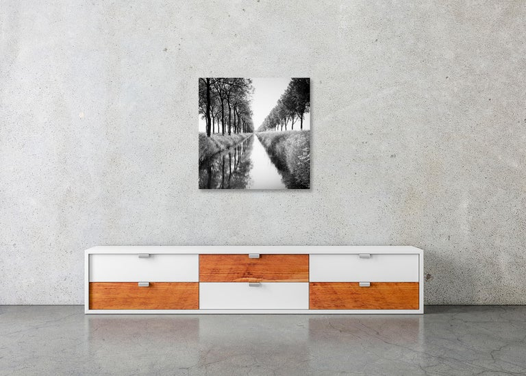 Gracht Study 1, Nehterlands - Black and White Long Exposure Fine Art Photography For Sale 5
