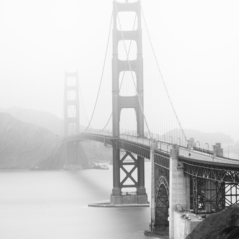 Golden Gate Study 12, San Francisco, USA - Black and White Fine Art Photography - Gray Black and White Photograph by Gerald Berghammer, Ina Forstinger