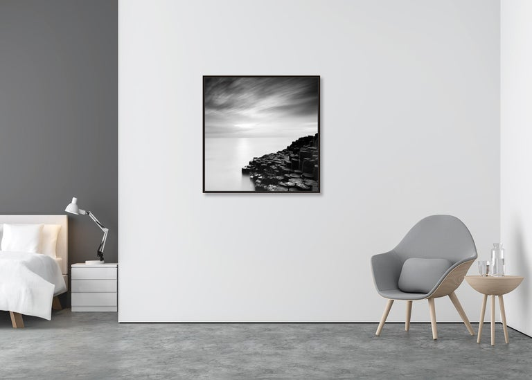 Giants Causeway 2, Ireland - Black and White Long Exposure Fine Art Photography For Sale 1