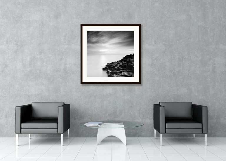 Giants Causeway 2, Ireland - Black and White Long Exposure Fine Art Photography For Sale 3
