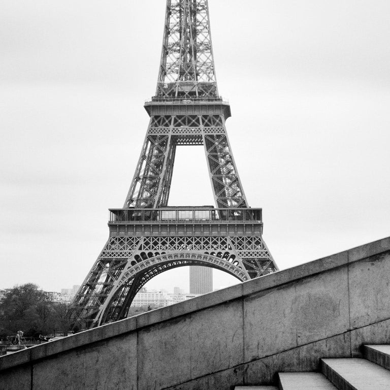 Eiffel Tower Study 13, Paris, France - Black and White fine art film photography - Photograph by Gerald Berghammer, Ina Forstinger