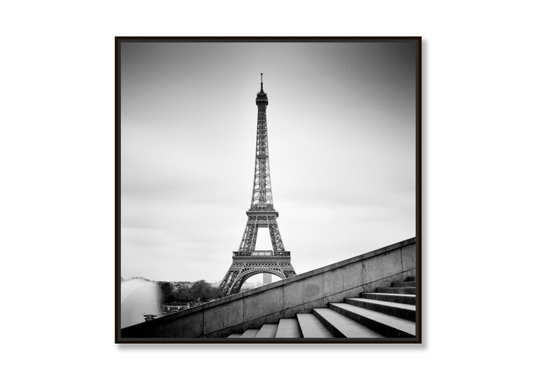 Eiffel Tower Study 13, Paris, France - Black and White fine art film photography - Contemporary Photograph by Gerald Berghammer, Ina Forstinger