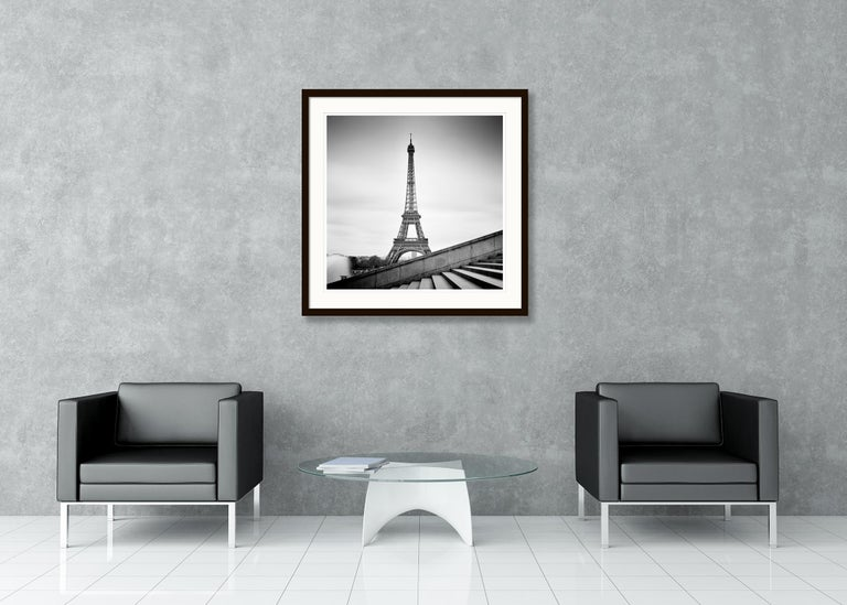 Eiffel Tower Study 13, Paris, France - Black and White fine art film photography For Sale 1