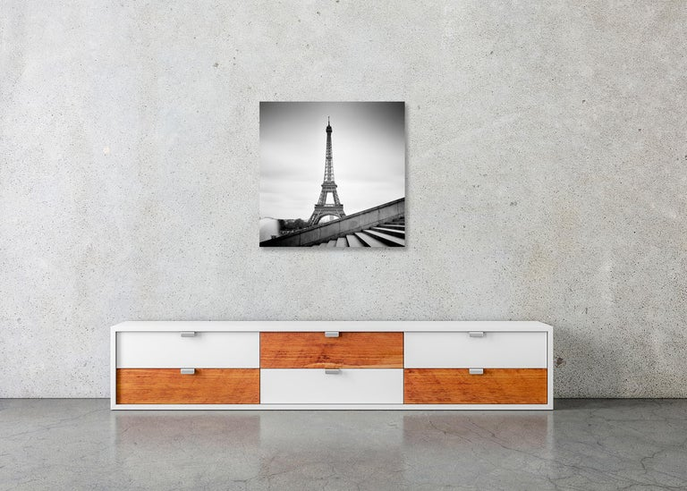 Eiffel Tower Study 13, Paris, France - Black and White fine art film photography For Sale 2